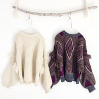 Diamond fringe knit