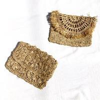 Rafia Clutch Bag