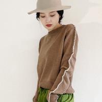 Stitch wool mix sweater