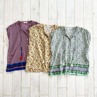 French sleeve 2way top / print