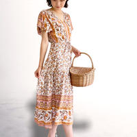 Floral hem dress