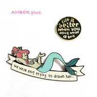 Pin Badge -Mermaid-