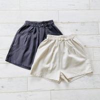 Cotton linen short pants / Kids~S size