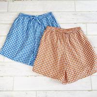 Short pants   / gingham check