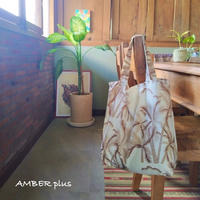 Eco Folding Tote Bag    -Vintage palms-