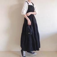 2wayティアードサロペットスカート/ブラック