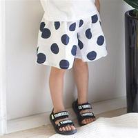 dot- wide half pants