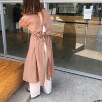 2way ribbon one-piece/ブラウン