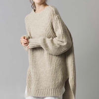 wool mix over size knit
