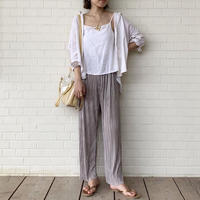 予約 pleats wide-pants