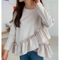 frill gather tops