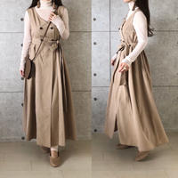 2way long gile one-piece/ベージュ