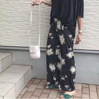 即納/flower print pants