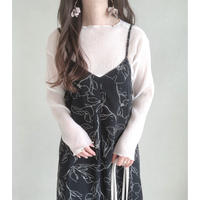 sheer pleats pullover/ホワイト
