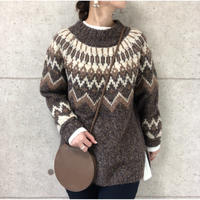 wool mix Nordic knit