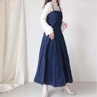 デニムタックジャンパースカート