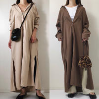 即納/asymmetry  long shirt one-piece