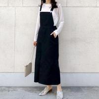 再入荷 jumper skirt/ブラック 秋素材