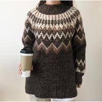 即納/Nordic  knit