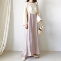 バックリボンサロペットスカート /グレージュ