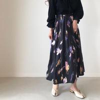 paint art flare skirt