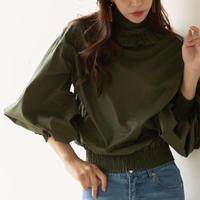 即納/volume sleeve - frill pullover