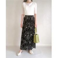 flower paint long skirt