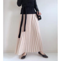 即納/pleats long skirt