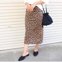 即納/leopard tight skirt