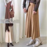 プリーツニットロングスカート