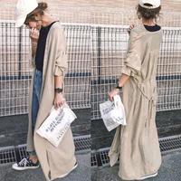 即納/long gown  gauze one-piece