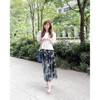 【池田るり様ご着用商品】 floral pattern long skirt