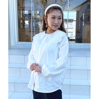 S/S embroidery collar blouse