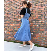 <再入荷>denim jumper skirt