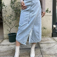 2wayラップデニムスカート