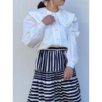 【再入荷】pleats collar blouse
