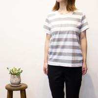 LAITERIE(レイトリー)ふわふわ天竺半袖ボーダーTシャツ