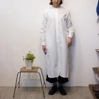 Gauze#(ガーゼ)band collar antique shirts one-piece