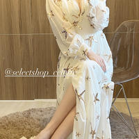 スパンコール星柄ロングドレス