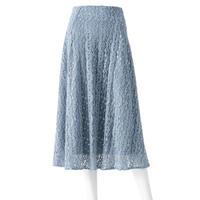 ユニコーン糸のモールニットレーススカート(ブルー)