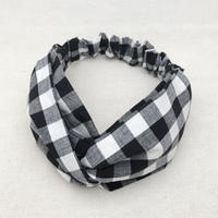 CROSS TURBAN /   Gingham check