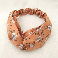 CROSS TURBAN /   Cotton Daisy Smoky Orange