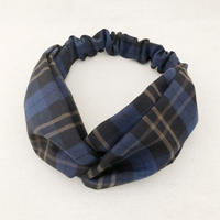 CROSS TURBAN /  Tartan Check Navy