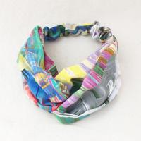 CROSS TURBAN /  Colorful Scarf 02