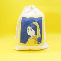 巾着袋(M)フェルメール「真珠の耳飾りの少女」