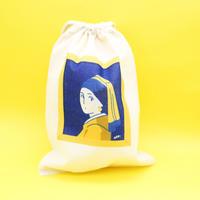 巾着袋(S)フェルメール「真珠の耳飾りの少女」