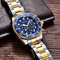 BENYAR メンズ腕時計 防水 クロノグラフ 日付表示 クォーツ ミリタリー 海外高級ブランド 光沢が美しい 選べる6色