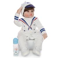 リボーンドール 男の子 本体+服+ウィッグ+おもちゃ付き ベビードール トドラー人形 リアル 本物そっくり 抱っこ 癒し 60cm