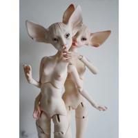 球体関節人形 Constantine 動物 BJD 1/4 本体+眼球+メイクアップ済み カスタムドール 手作り 選べる8色