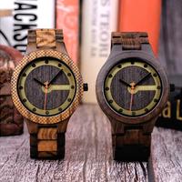 ボボバード 木製腕時計 スポーツ デザイン かっこいい BOBO BIRD 木製ベルト メンズ クォーツ 渋くてクール ブラウン ブラック 2色 木製ギフトボックス付き★